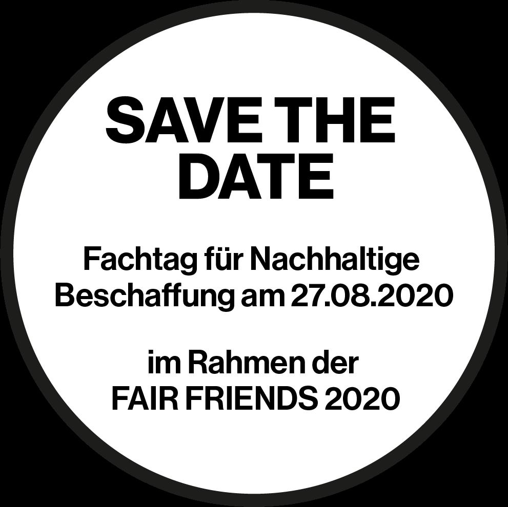 Save the Date - Termin für Nachhaltige Beschaffung am 27.08.2020